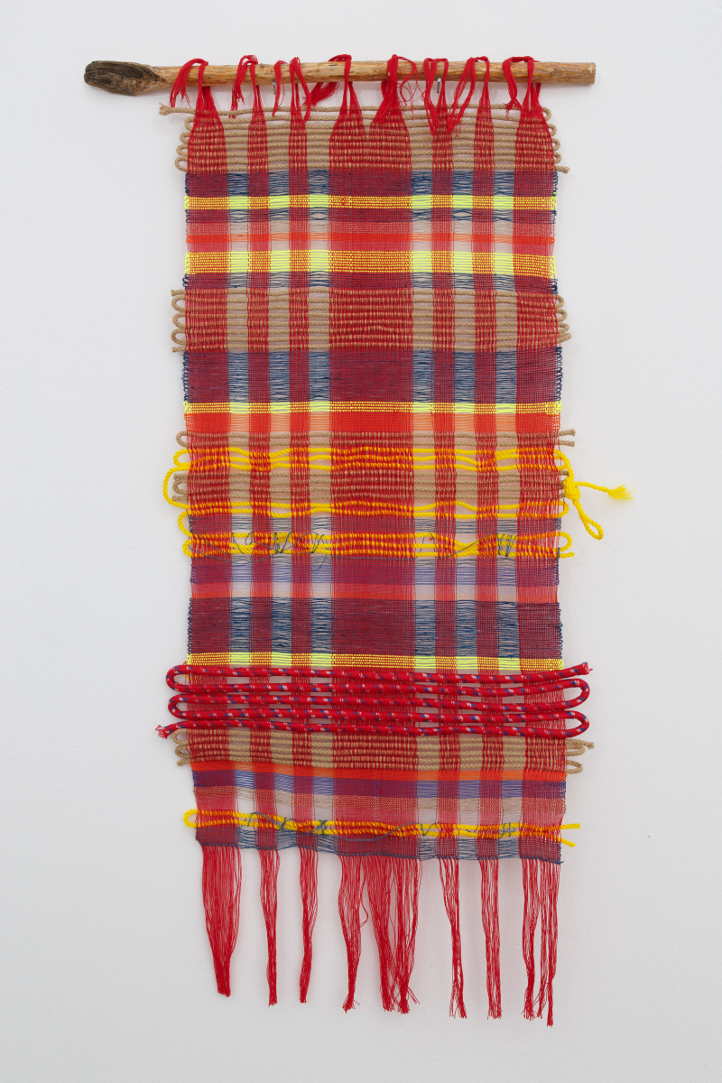 Raisa Kabir_Untitled I Flax_2020_linen  unspun flax  cotton and industrial rope_59 x 105 cm_1